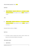 Sale of Business Agreement Template