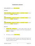 Shareholders' Agreement Template