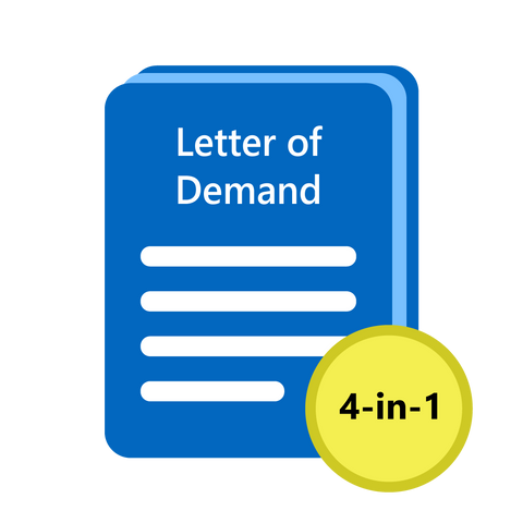 [4-in-1] Debt Recovery Letter of Demand Templates