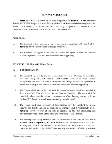 Tenancy agreement template burgielaw store for Letting agreement template free