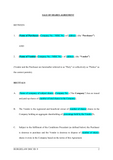 Sale of Shares Agreement Template
