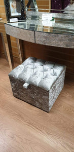 Small Ottoman - Chesterfield Style Storage Box