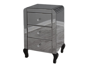 Smoked Mirror Bedside Cabinet - Gables Beds