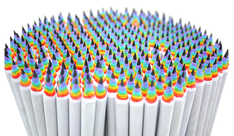 a big bunch of white rainbow pencils by Duncan Shotton Design Studio