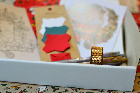 gold leaf washi tape and mini envelopes