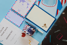 airmail parcel tape mini gift cards and mini letter set