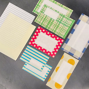 Midori Colorful Letters Writing Paper and Envelopes
