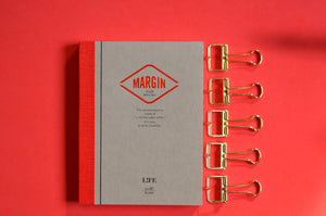 Life Stationery Notebook and gold bulldog clips
