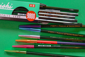 Mitsubishi 9800 pencils and aluminium pencil caps