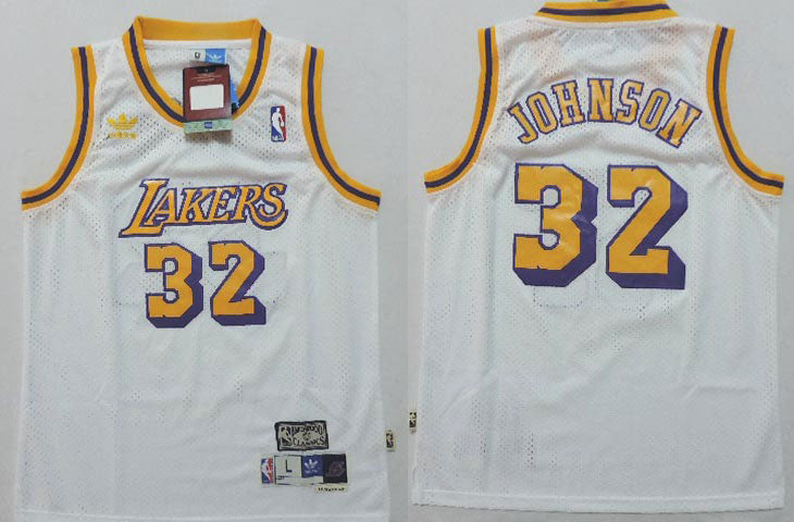 spain mitchell and ness lakers 32 magic johnson stitched