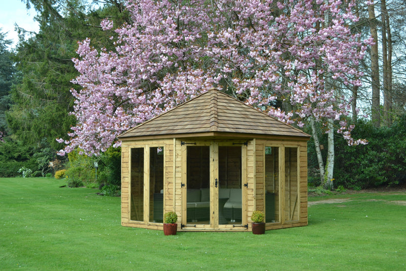 10x10 Henley with optional Cedar shingles roof.