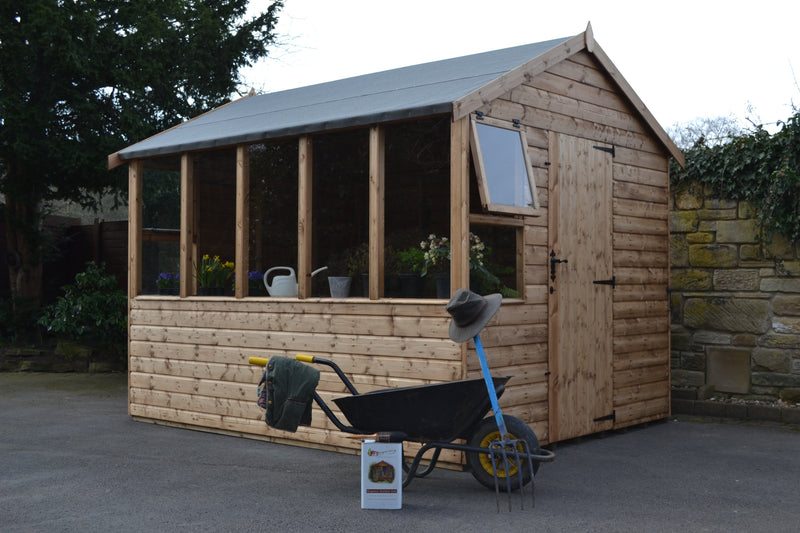 Kew potting shed with R2 door position