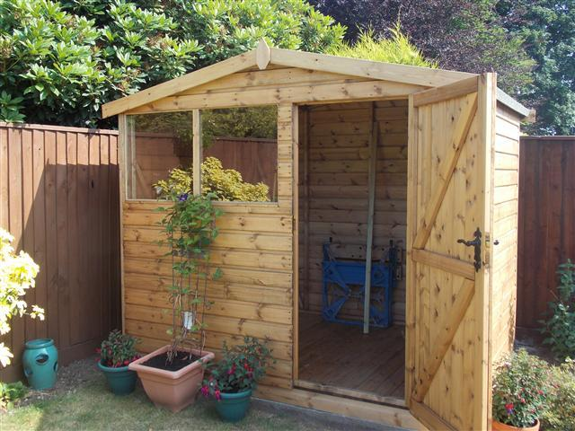 8x6 Ultra in Redwood Deal R4 door position
