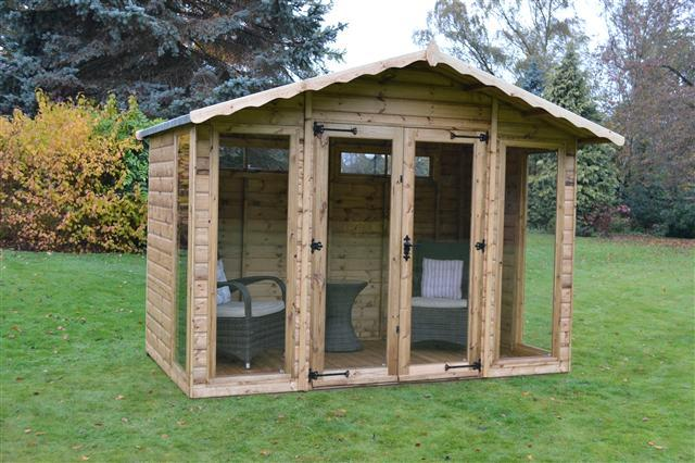 Helmsley Wooden Apex Summerhouse - Purewell Timber