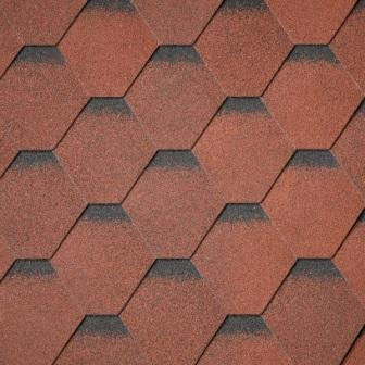 Red Felt Shingles. Also available in Black, Brown, Green & Grey