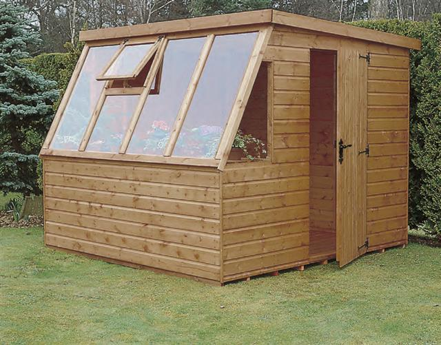Model shown 8x6 Suntrap in Deal R2 door position