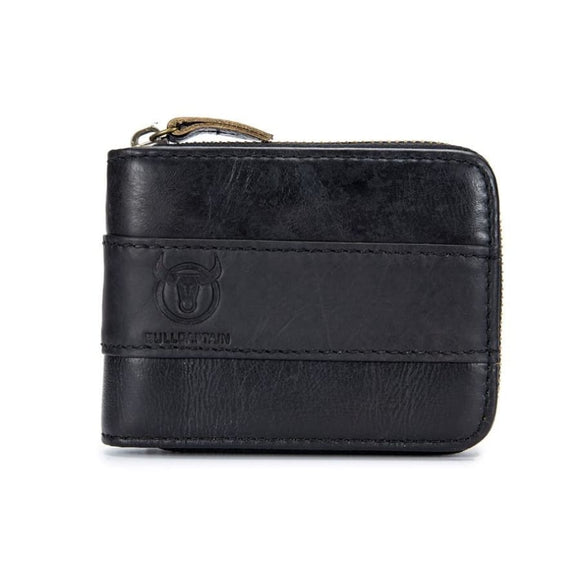 10 Pockets Executive Wallet Black Men Coin Zipper Mens Gifts_Leather Bags & Wallets New Trends Trends 2019 Wallet