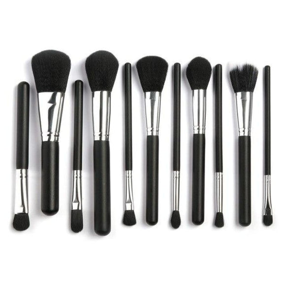15Ppcs Makeup Brushes Set Black And Silver Makeup Blush Brush Makeup Brushes Set Makeup Type_Brushes New Trends Powder Brush