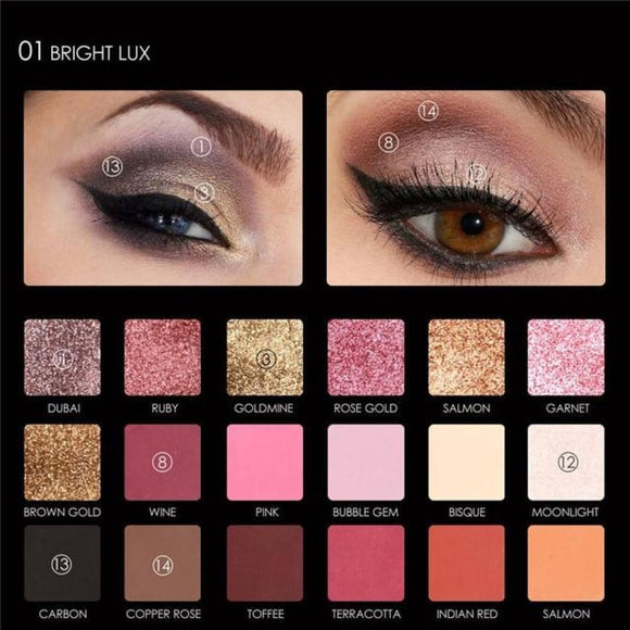 18 Shades Eye Shadow Palette 1 Makeup Eyes Makeup Makeup Type_Eyes Makeup New Trends Trends 2019
