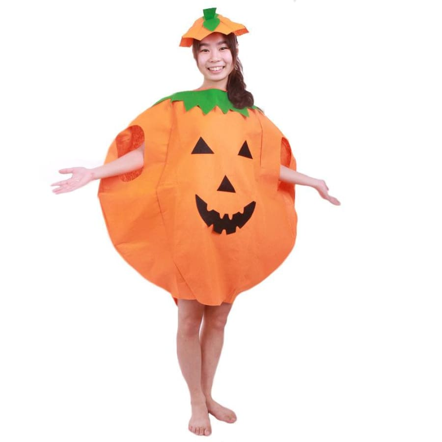 f6701669c21 2-Pieces Set Halloween Costumes for Women Men Adult Pumpkin Costume Outfit  Clothes