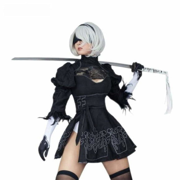 2B Cosplay Suit Anime Costume Costume Bicycle Accessories Clothing Type_Halloween Costumes Costume New Trends Trends 2019