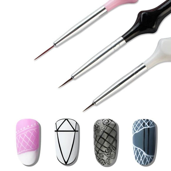 3pcs UV Gel Nail Brush Liner Nail Polish Makeup Type_Nails Art New Trends Trends 2019