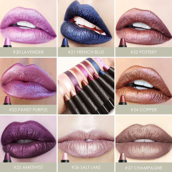 8 Metallic Long-Lasting Moisturizing Lipstick Makeup Lipstick/lip Gloss/lip Liner Makeup Type_Lipstick/lip-Gloss New Trends Trends 2019