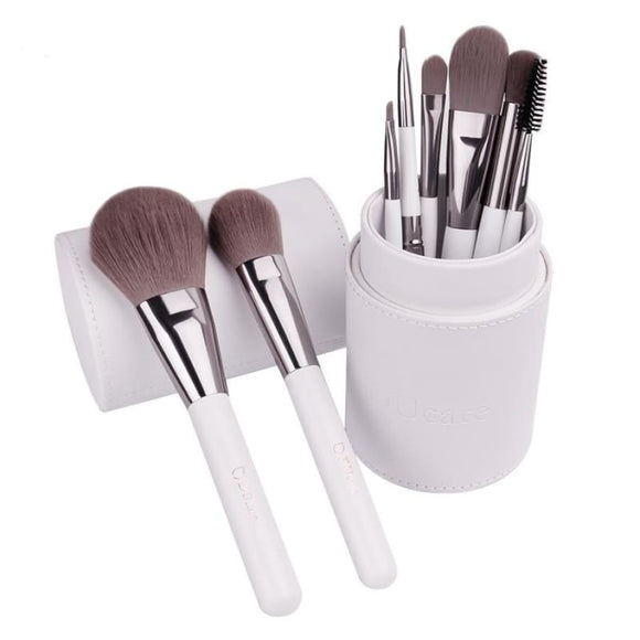 8Pcs Makeup Brush Set Leather Cup Holder Makeup Makeup Brushes Set Makeup Type_Brushes New Trends Trends 2019