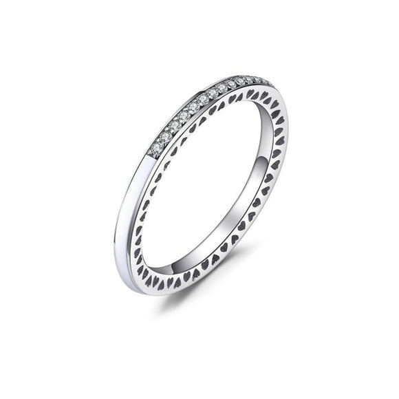 925 Sterling Silver CZ Ring 6 / White Jewelry 2019 Gemstone Jewelry Type_Sterling Silver Rings New Silver Jewelry New Trends