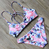 Aerial Mid Cut Bikini Set Floral / L Swimsuit Bikini Set Clothing Type_Bikini Set New Trends S-2 Season_Summer