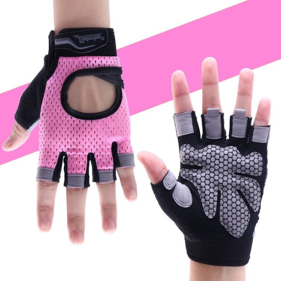 Anti-skid Gym Gloves Pink / XS Fitness Fitness Gear Fitness_Yoga & Pilates Equipment New Trends Trends 2019