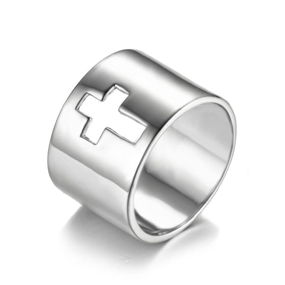 Band Cross Classic Ring 6 / Silver Jewelry 2019 Jewelry Type_Sterling Silver Rings New Silver Jewelry New Trends Ring