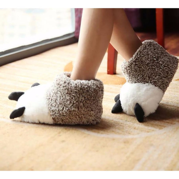 Bear Claw Slippers Comfy Clothing Type_Pajamas & Slippers New Trends Season_Fall Slippers Trends 2019