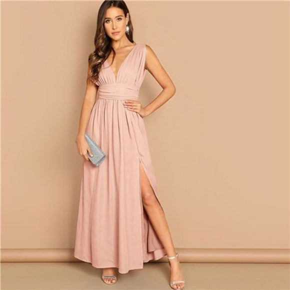 Brianna Simmons Dress Pink / XS Dresses Army Green Asymmetrical Clothing Type_Dresses Knee-Length L