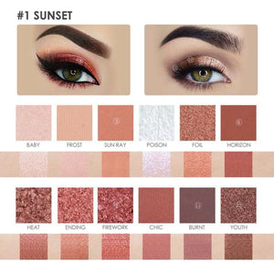 Burning / Sunset Eye-Shadow Palette Makeup Eyes Makeup Type_Eyes Makeup New Trends Trends 2019