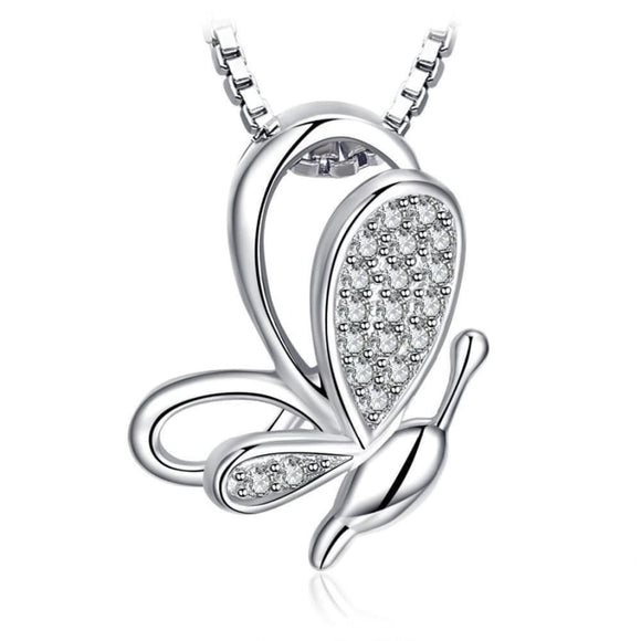 Butterfly CZ Pendant Jewelry 2019 Gemstone Jewelry Type_Pendants & Necklaces New Silver Jewelry New Trends