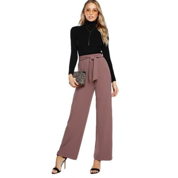 Charlotte Palazzo Pants Pink / XS Bottoms Broadcloth Casual Clothing Type_Pants Elastic Waist Fabric has some stretch