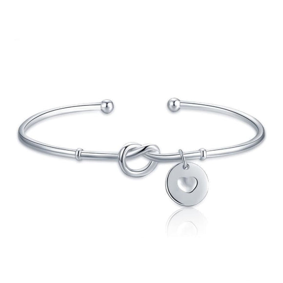 Circle Bangle Bracelet Jewelry 2019 Bracelet Gemstone Jewelry Type_Sterling Silver Bracelets New Silver Jewelry