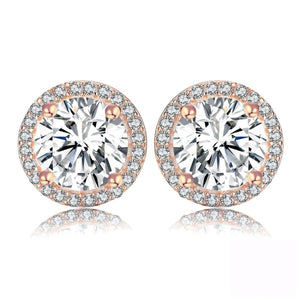Circle Round CZ Earrings Jewelry 2019 CZ Earrings Jewelry Type_Sterling Silver Earrings New