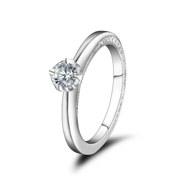 Classic CZ Engagement Ring Jewelry 2019 Gemstone Jewelry Type_Sterling Silver Rings New Silver Jewelry New Trends