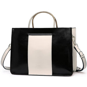 Color Block Leather Tote 1 Bags New Trends Shoulderbag Trends 2019