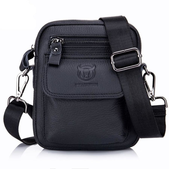Compact Leather Crossbody Satchel Men Bag Mens Gifts_Leather Bags & Wallets New Trends Trends 2019
