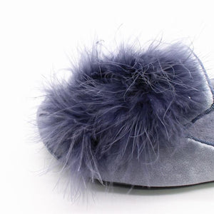 Cornelia Pompon Slippers Black / 5.5 Comfy Clothing Type_Pajamas & Slippers New Trends Season_Fall Slippers Trends 2019