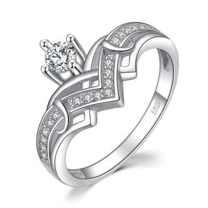 Cubic Zirconia Crown Silver Ring 6 Jewelry 2019 Gemstone Jewelry Type_Sterling Silver Rings New New Silver Jewelry