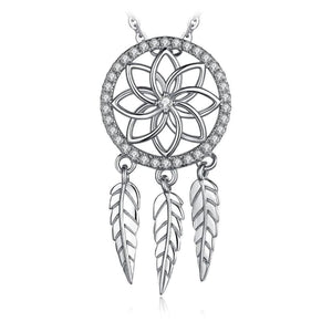 Cubic Zirconia Dream Catcher Pendant Jewelry 2019 Gemstone Jewelry Type_Pendants & Necklaces New Silver Jewelry New Trends