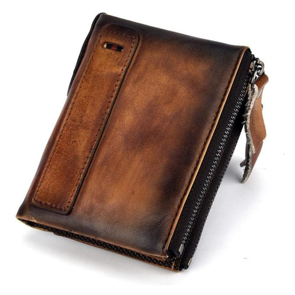 Double Zipped Wallet Men Mens Gifts_Leather Bags & Wallets New Trends Trends 2019