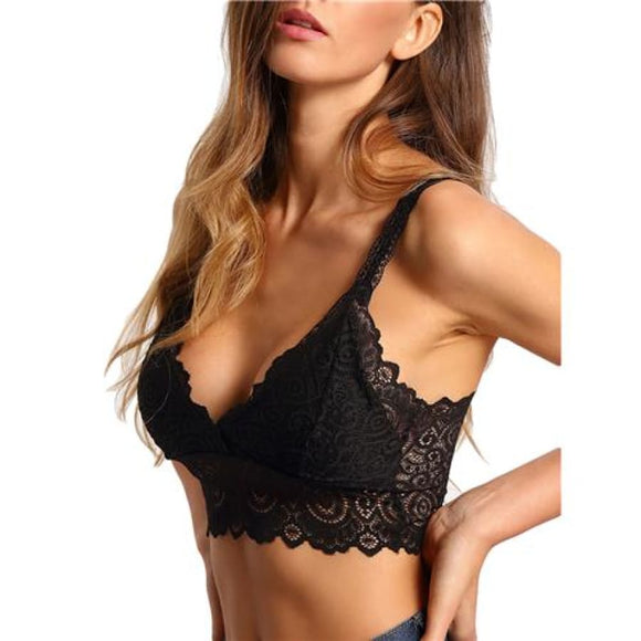 Floral Lace Bralette Comfy Bralettes Bras Clothing Type_Lingerie New Trends Season_Fall