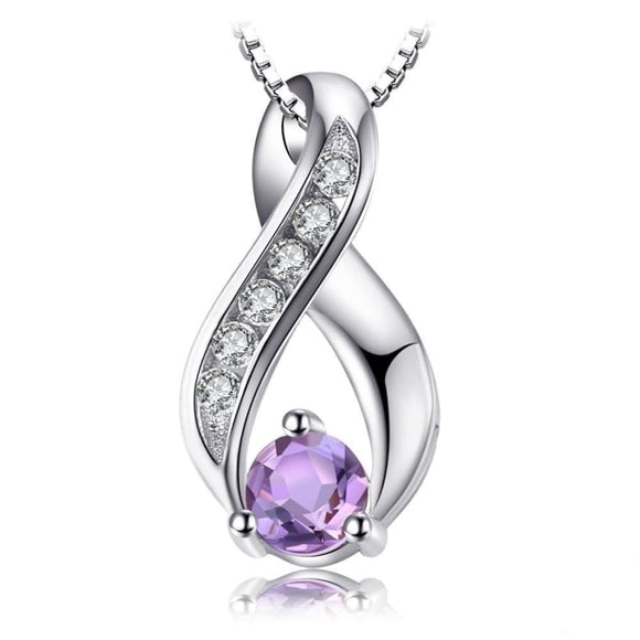 Genuine Amethyst Pendant Purple Jewelry 2019 Gemstone Jewelry Type_Pendants & Necklaces New Silver Jewelry New Trends