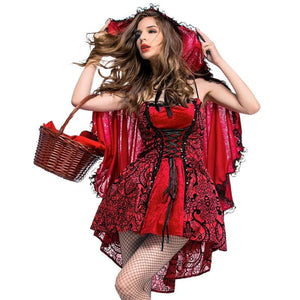 Halloween Gothic Little Red Riding Hood Costume L / Red Costume 2019 Clothing Type_Halloween Costumes Costume New Trends Trends 2019