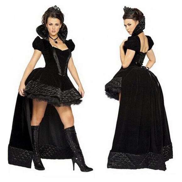 Halloween Victorian Vampire Costume L / Black Costume 2019 Clothing Type_Halloween Costumes Costume New Trends Trends 2019